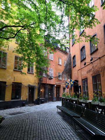 Café under Kastanjen, hidden in the narrow streets of Gamla Stan
